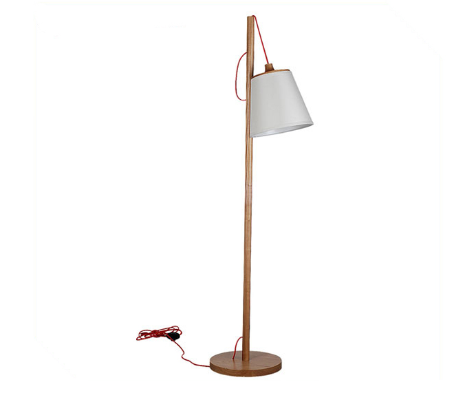 Simple Modern Floor Lamp with Ash Wooden