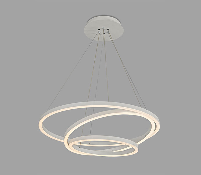 Modern Acrylic Pendant Lamp with Two Rings