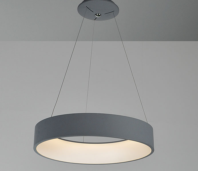 Gray Hanging Lighting Chandelier Pendant Light with LED