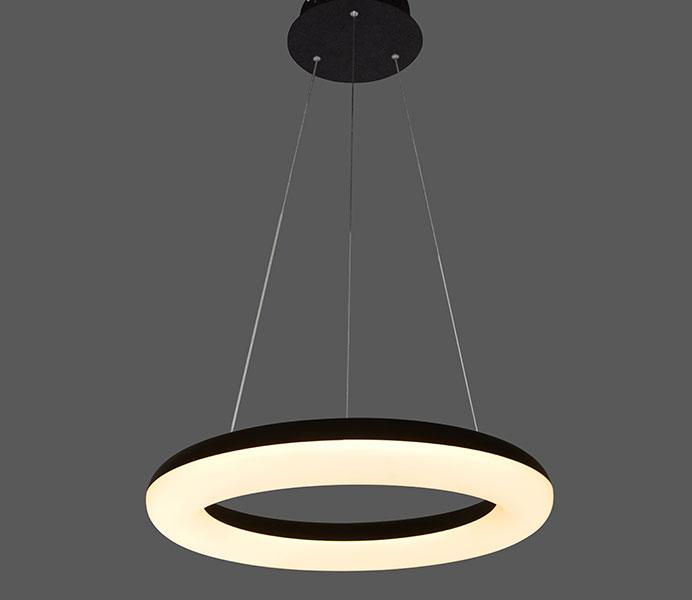 Modern White One Ring Acrylic Light Fixture for B2B