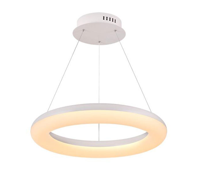 Modern White One Ring Acrylic Light Fixture for B2B