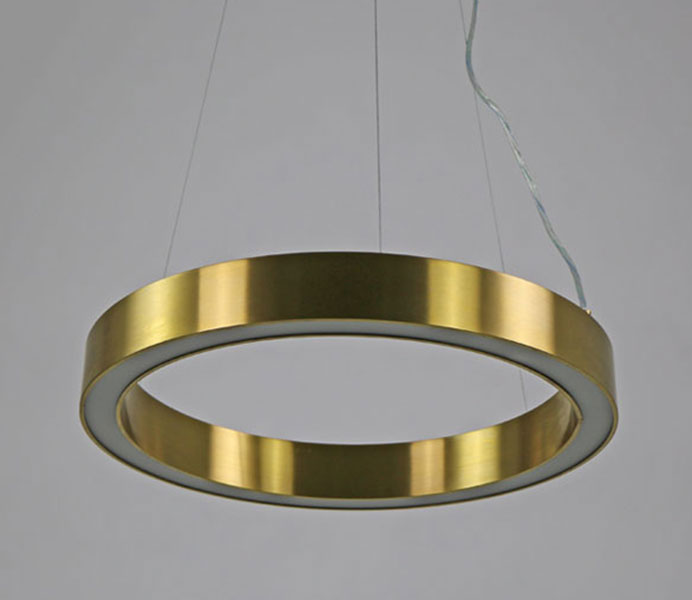 Hot Gold Modern LED Suspension for Project