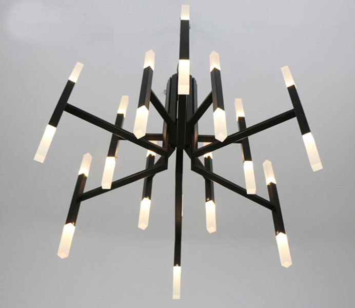 Modern Black Color Pendant Lamp Hanging Chandelier Lights with LED