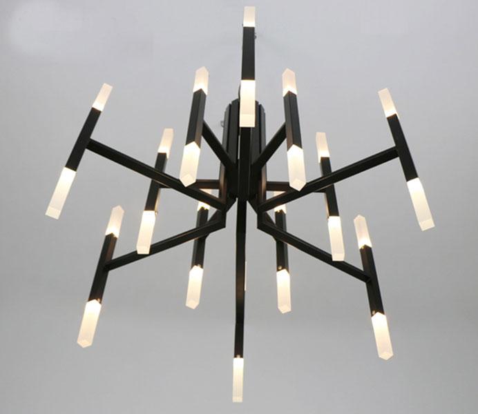 Modern Black Color Pendant Lamp Hanging Chandelier Lights with LED
