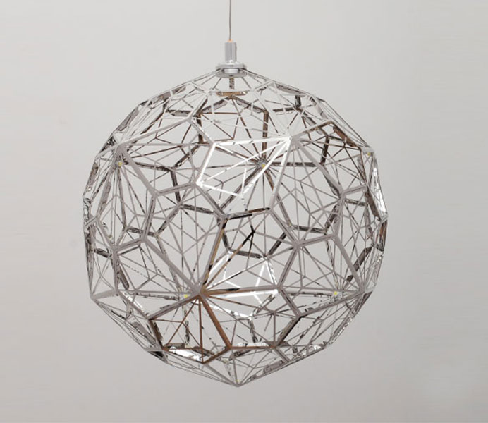 Chrome Pendant Lights with Beautiful Pattern Shadow