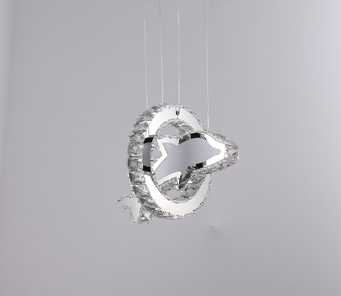 Modern K9 Crystal Dolphin Chandelier Light for Kids Room