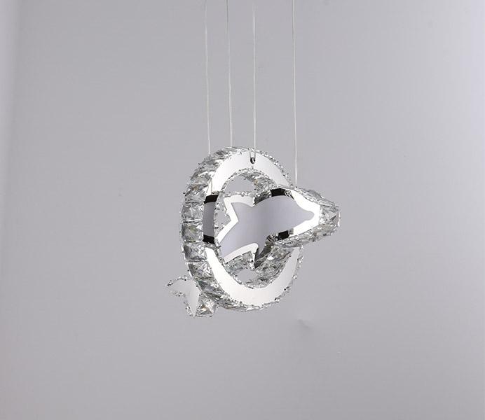 Modern K9 Crystal Dolphin Chandelier Light for Kids Room