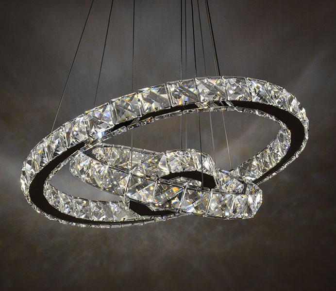 K9 Crystal Modern Chandelier Wholesale with 3 Rings
