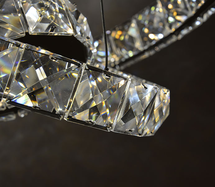 K Crystal Modern Chandelier Wholesale With Rings - Wholesale chandelier crystals catalog