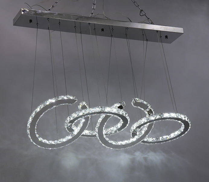 Customize Crystal Pendant Light for Dining Room
