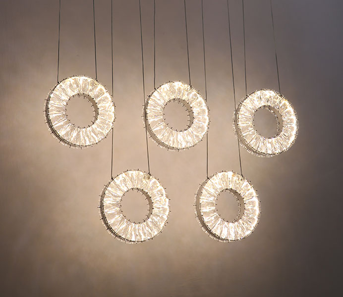 LED Crystal Circle Pendant Light with CE