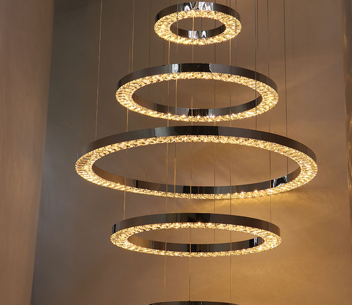 Stainless Steel Contemporary Hanging Pendant Lamp with LED