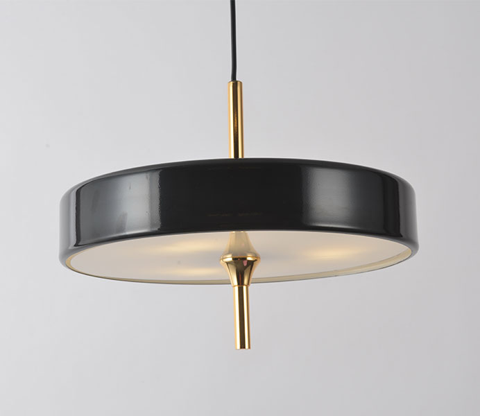 Cake Shape Pendant Light with Lampshade Glass