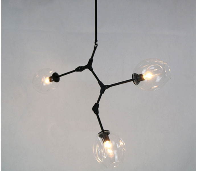 Top Designed Classic Branched Chandelier Hanging Lamp with Clear Glass