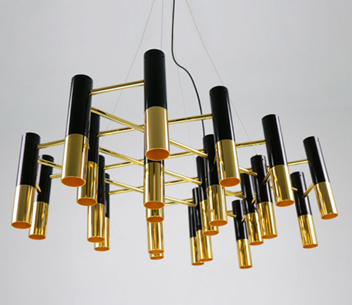 Modern Gold and Black Color Pendant Lamp Hanging Chandelier Lights for living room
