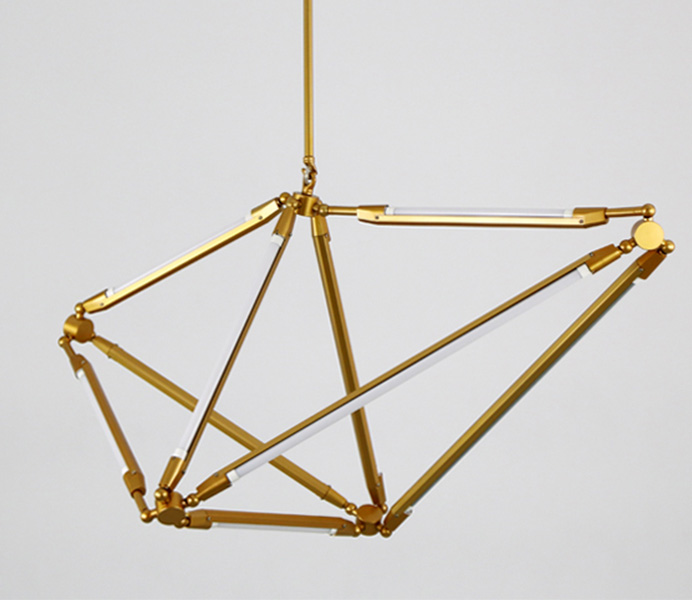 Gold Modern Pendant Light with T5 LED