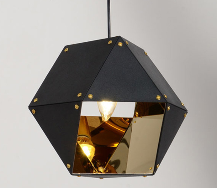 Black Welles 3 Spoke Pendant Light Wholesale