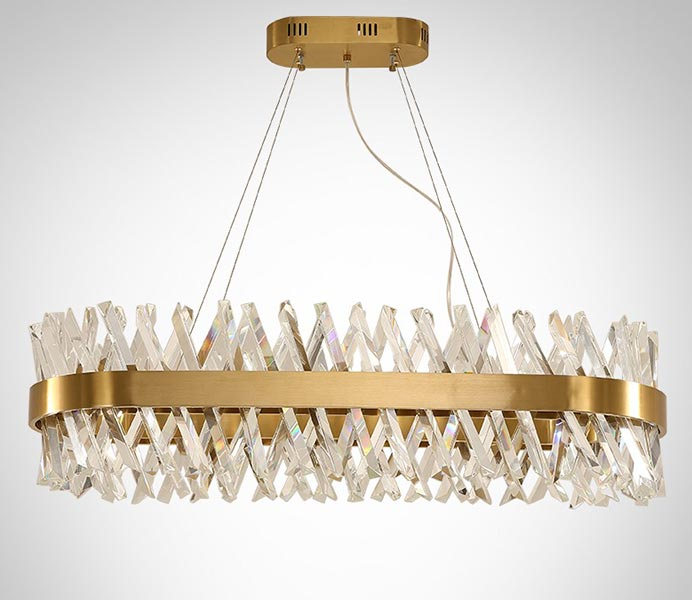 Hot Long Gold High Quality Hanging Lamp with Glass