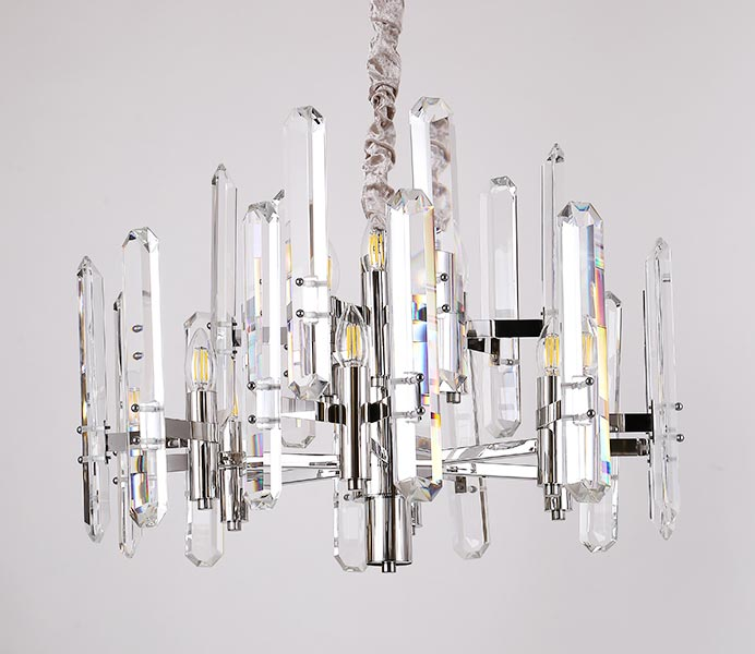 Hot Chrome Hanging Light Chandelier with K9 Crystal