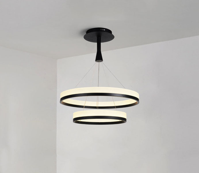 New Fashion Design Two Rings Lighting Hanging Chandelier LED Pendant Lamp