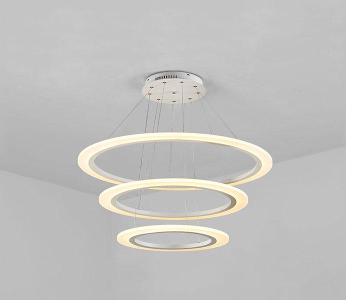 Modern 2 Rings White LED Pendant Lights for Dining Room