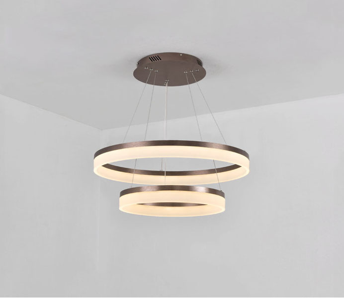 Metal Acrylic Pendant Lamps, Gold Color Acrylic Hanging Light
