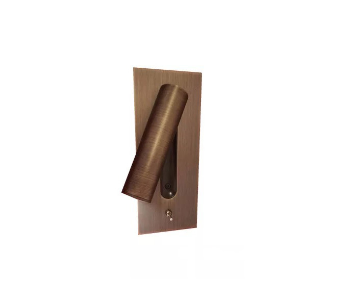 Modern Copper Wall Reading Light with Cree