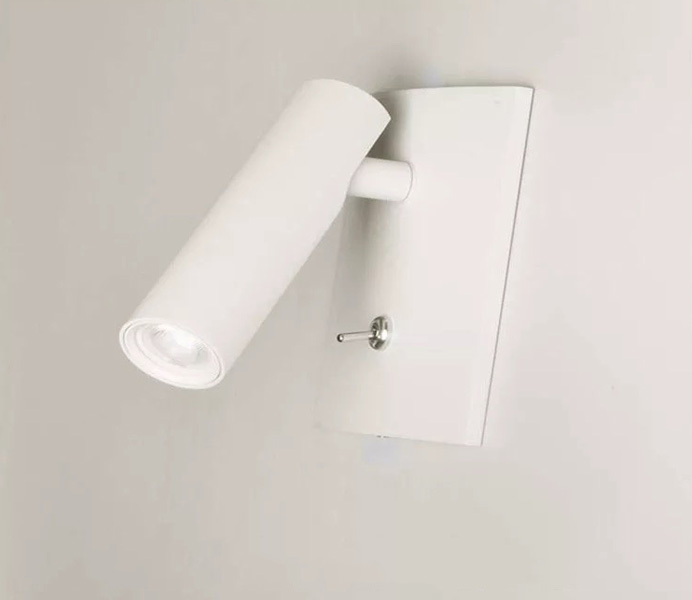 Black Finish Reading Wall Lamp with Led Flexible