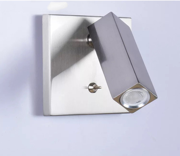 Aluminum Steel Bedside Wall Lamp with 3W