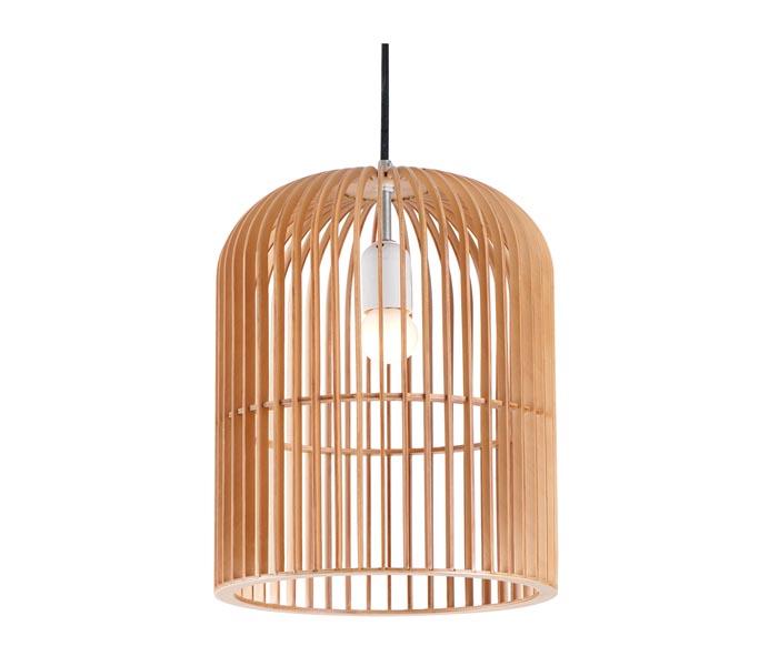Lightingbird Birdcage Wood Pendant Light for Dinning Room