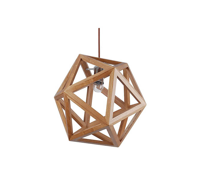 Lightingbird Five Star Solid Wood Pendant Lamp with E27