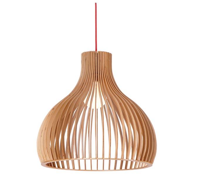 Lightingbird Modern Wooden Pendant Light for Kitchen Design