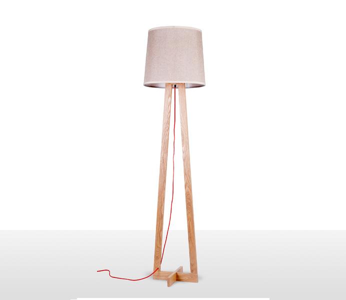 Nice Timber Floor Light for Living Room