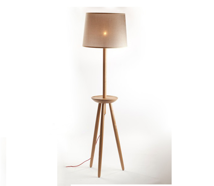 Tripod Wooden Floor Lamp for Home Decor