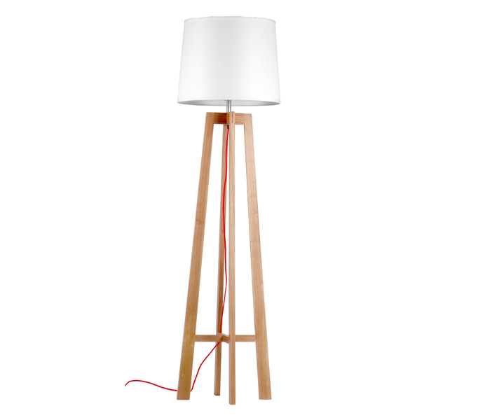 Chinese Style Wooden Floor Lamp for Bedroom