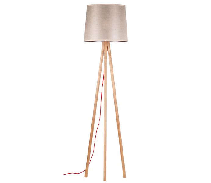 Classic Tripod Floor Lamp with Ash Wood