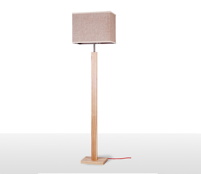 Simple Ash Wood Floor Light with E27