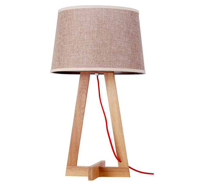 Simple Desk Lamp with Ash Wooden