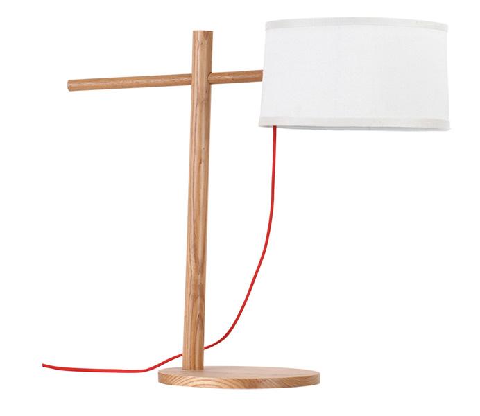 Modern White Shade Desk Lamp for Living Room