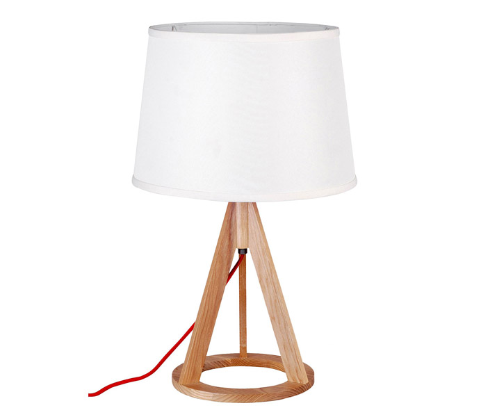 Small Desk Lamp with Ash Wooden