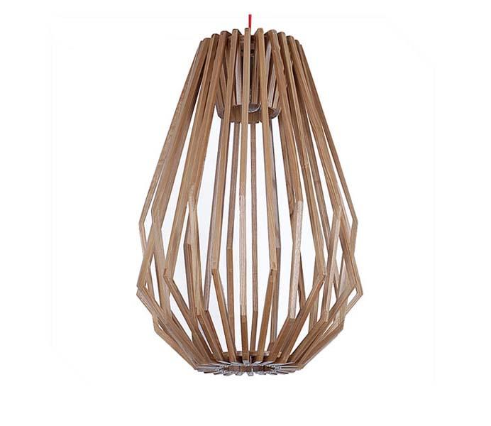 Lightingbird High Quality Diamond Pendant Light with Ash Wood