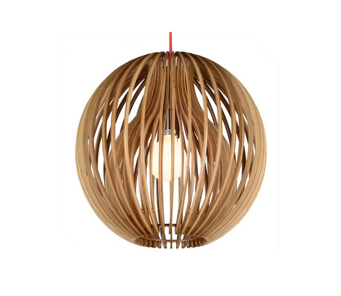 Lightingbird Round Ply Wood E27  Pendant Lamp Made in China