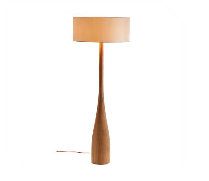 Wood Vase Floor Light for Living Room