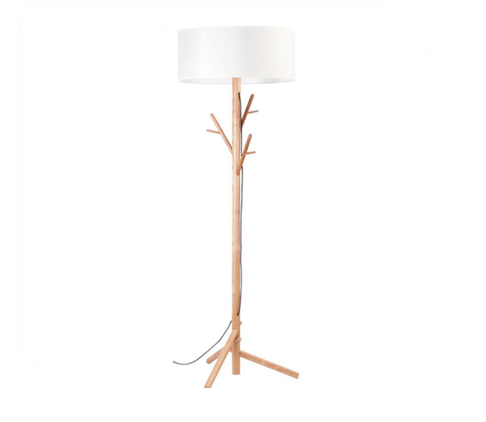 Decorative Tree Floor Lamp with White Lampshade