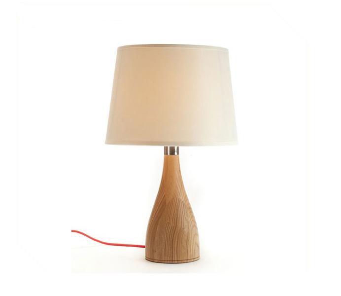 Elegant Vase Wooden Table Lamp for Bedroom