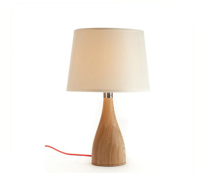 Elegant Vase Wooden Table Lamp for Bedroom