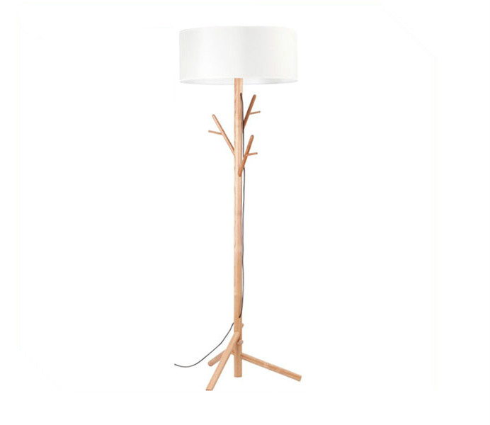 Decorative tree floor lamp with white lampshade aloadofball Gallery