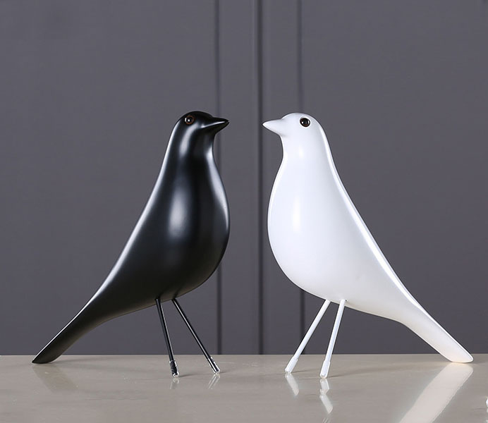 Modern Black White Bird with Europe Style