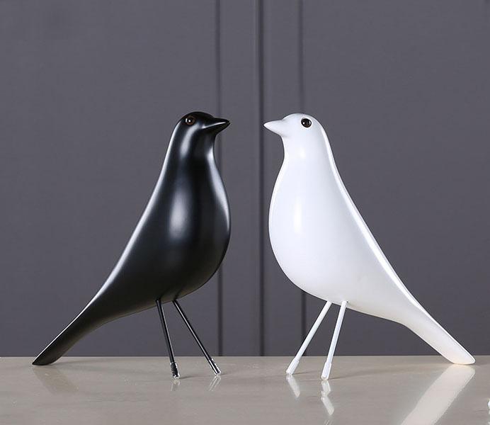 Modern Black White Bird with Europe Style