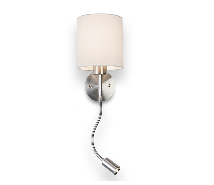 LED 3W 3000K Wall Lamp with White Lampshade